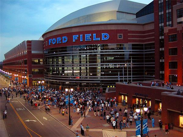 2014 Supercross Round 11 Picture of Ford Field in Detroit, Michigan