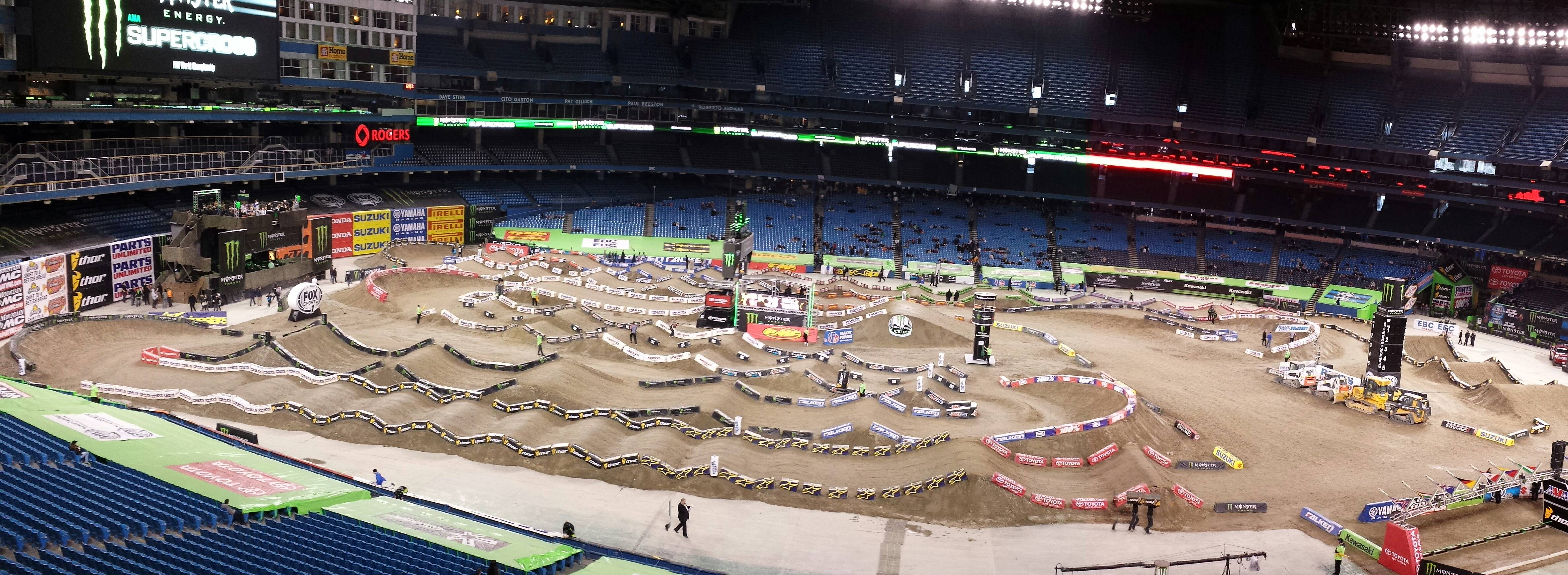Picture of Supercross track in Toronto