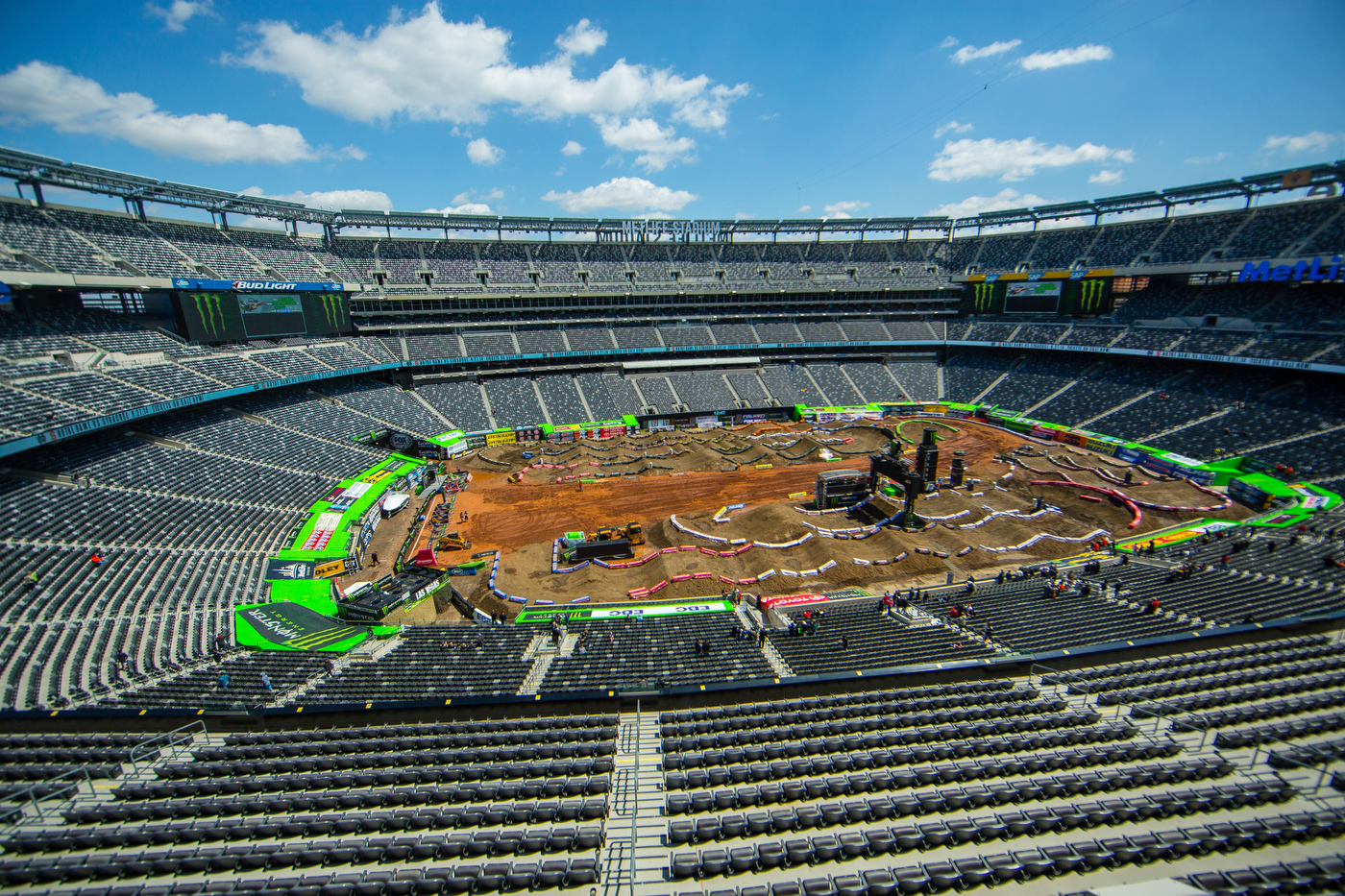 Image of Met Life New York Supercross track